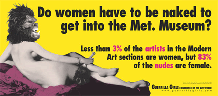 Guerrilla Girls, Do women have to be naked to get into the Met. Museum?
