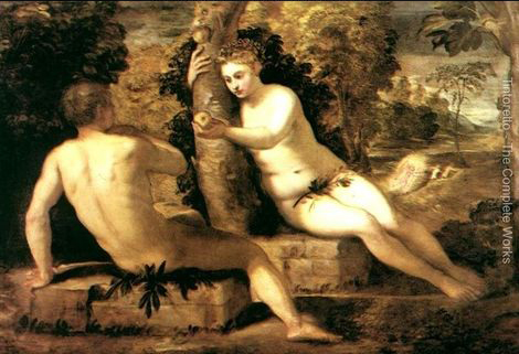 Tintoretto Adam And Eve Jacopo Tintoretto Adam And