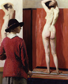 Laura Knight, Self Portrait with Nude (1913)