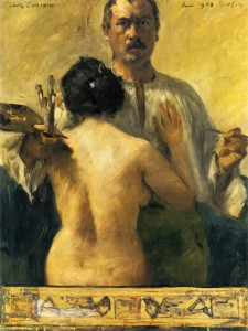 Lovis Corinth, Self-portrait with Model, 1903
