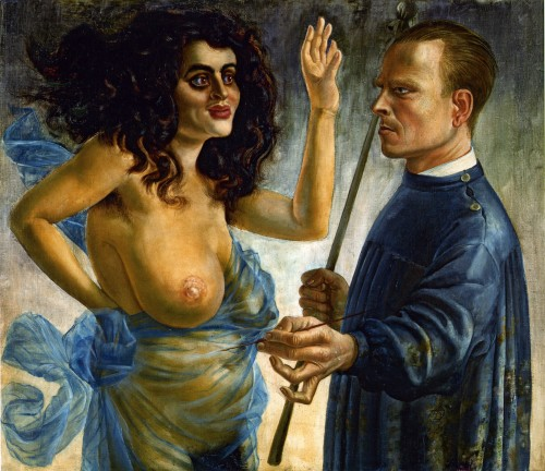 Otto Dix, Self-Portrait with Muse (1924)