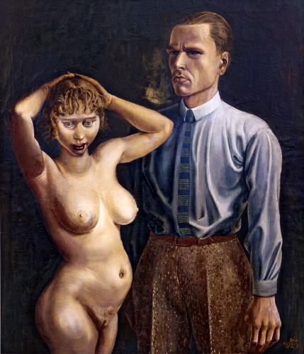 Otto Dix, Self-Portrait with Nude Model (1923)