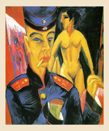 Ernst Kirchner, Self-Portrait as a Soldier (1915)