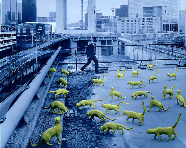Sandy Skoglund's Cats in Paris, 1993