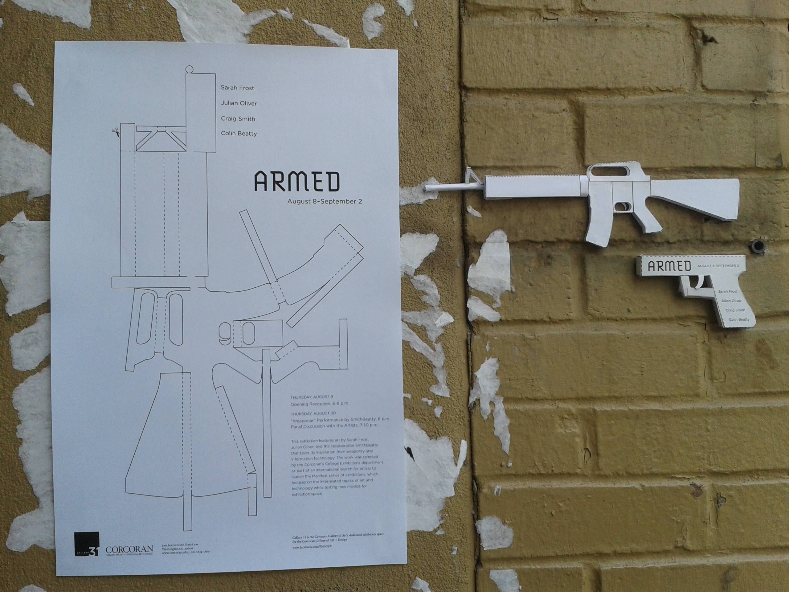 Some promotional material for the show. Manifest Armed.