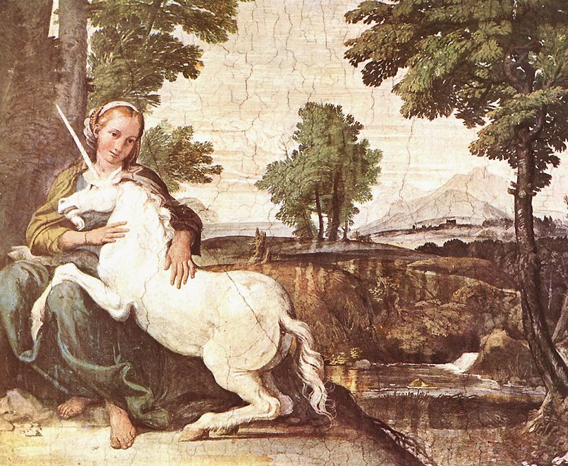 Domenichino, The Maiden and the Unicorn, 1530