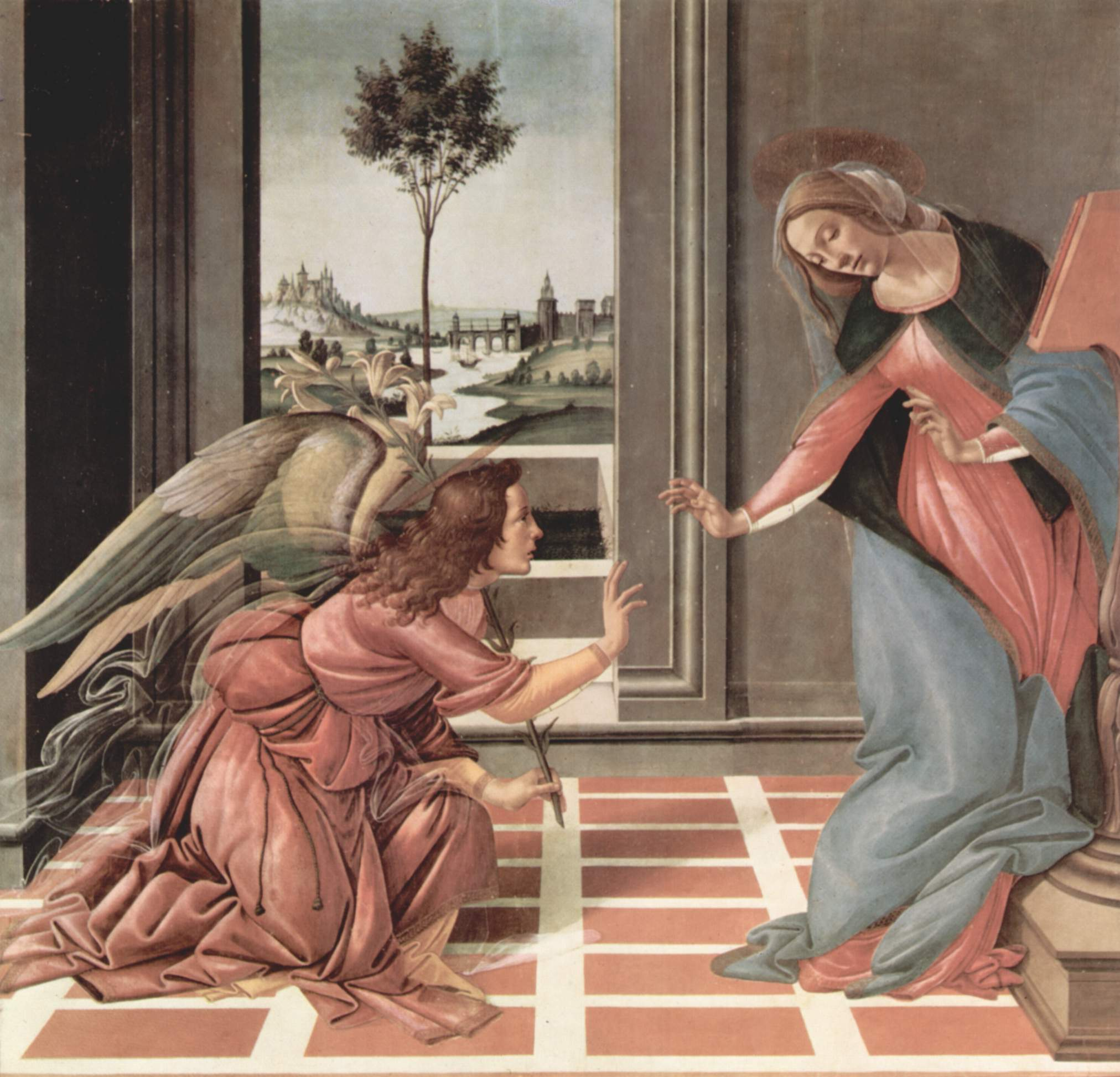 Sandro Botticelli, The Cestello Annunciation, 1489-90
