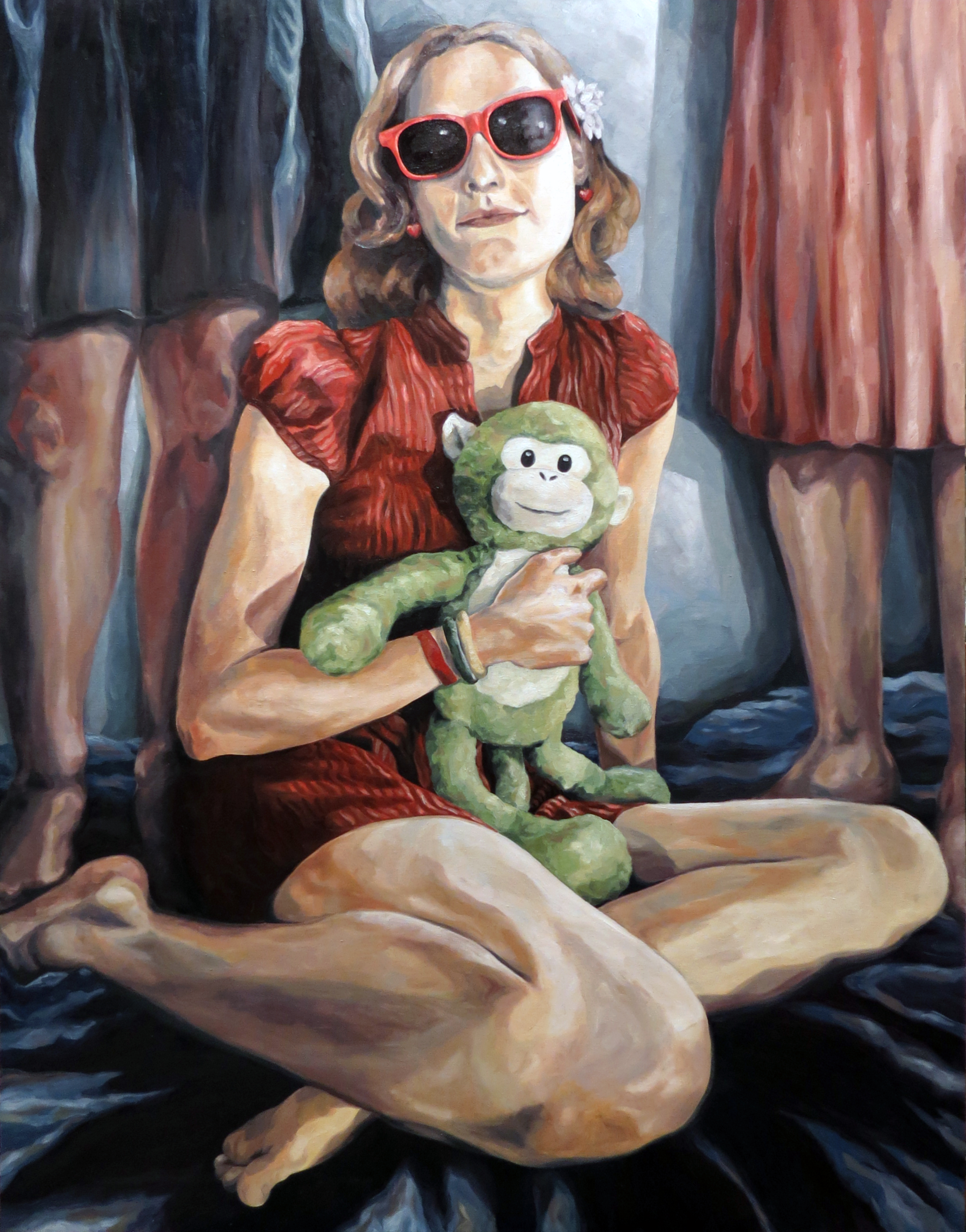 "Melissa Huang, Jamie, 2012, oil on canvas, 36""x48"""