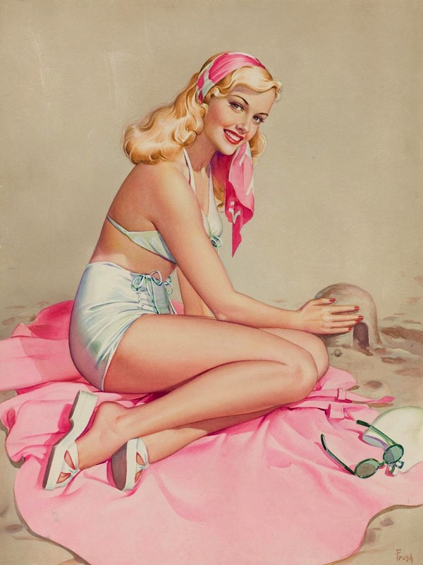 A pin-up girl by Pearl Frush