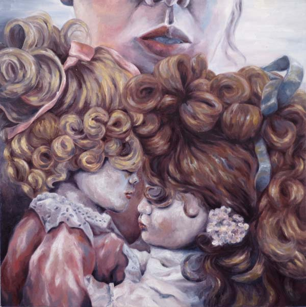 Melissa Huang, Play, 2012, oil on canvas, 20″x20″