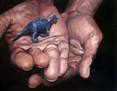 Melissa Huang, Holding II, 2012, oil on canvas, 12″x10″