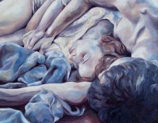 Melissa Huang, Play II, 2012, oil on canvas, 20″x20″