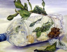 Melissa Huang, Natural/Unnatural, still life, 2012, oil on canvas, 20″x16″