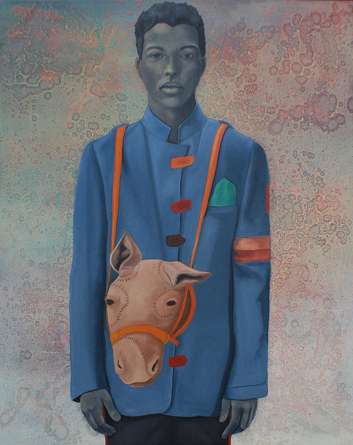 "Amy Sherald, Pony Boy, 2008, oil on canvas, 54""x43"""
