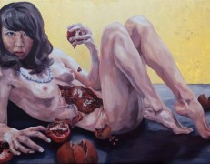 Melissa Huang, Self-Portrait as a Young Woman, 2013, oil on canvas, 31.5″x 47″