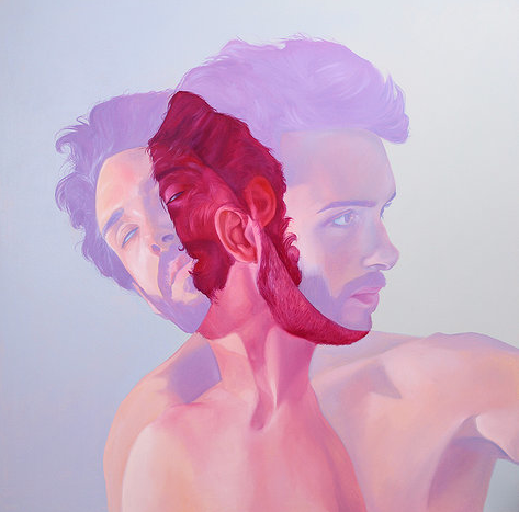 "Jenn Mann, Sway, 2013, 50""x50"", oil on canvas"