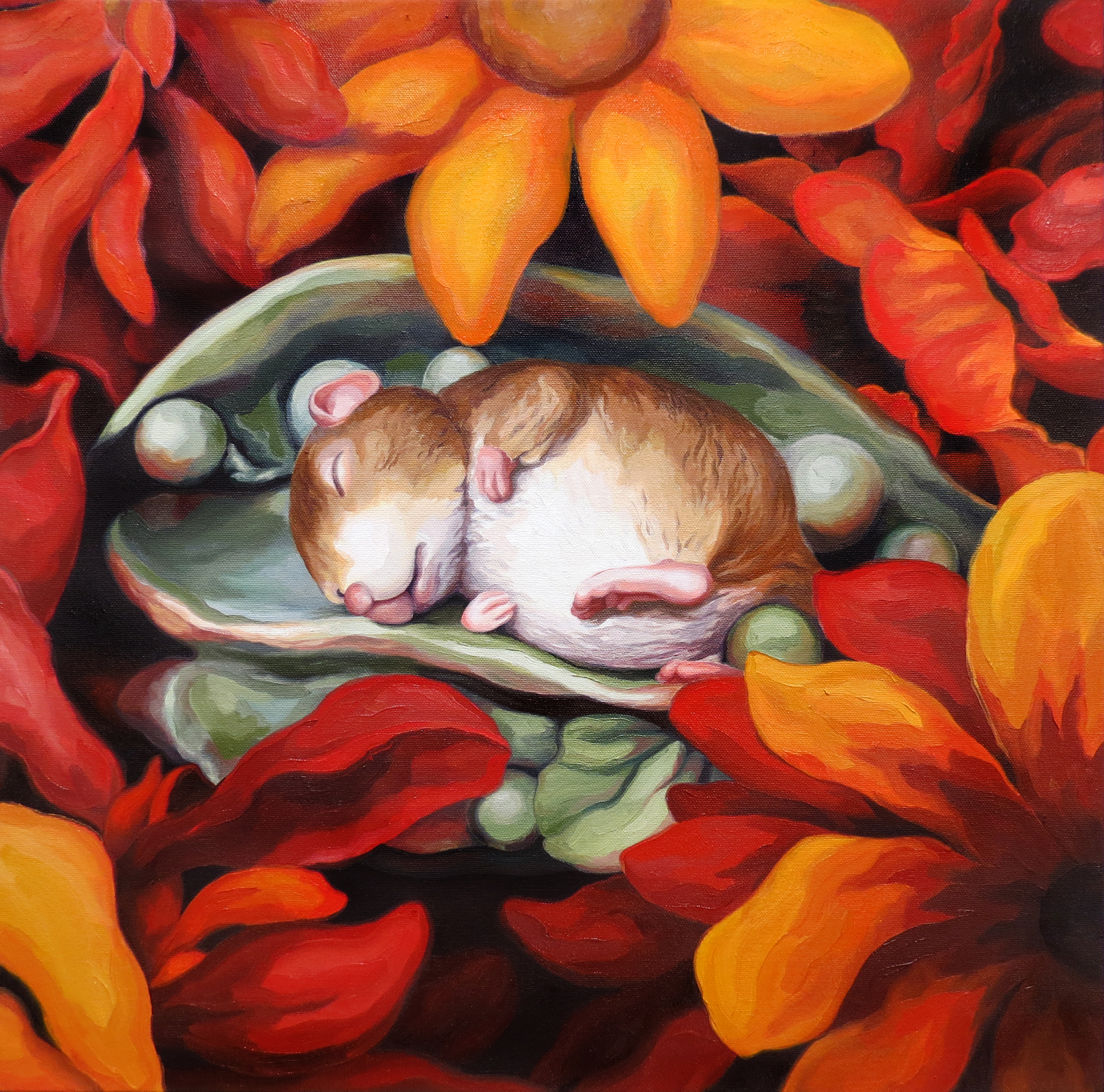 "Melissa Huang, Sammy Mouse, 2014, oil on canvas, 20"" x 20"""