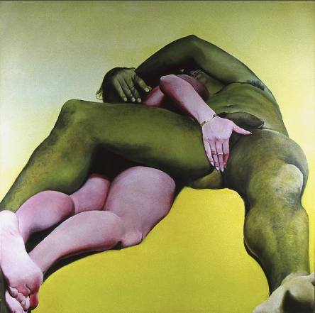 "Joan Semmel, Erotic Yellow, 1971-1973, oil on canvas, 72"" x 72"""
