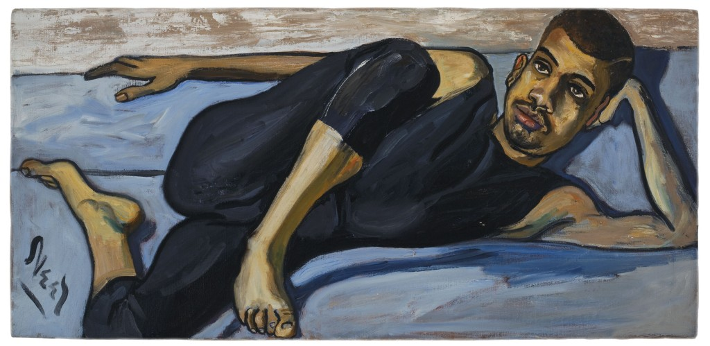 "Alice Neel, Ballet Dancer, 1950, oil on canvas, 20"" x 42"""