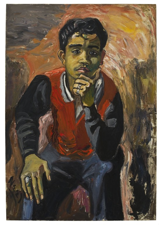 "Alice Neel, George Arce, 1959, oil on canvas, 36"" x 25"""