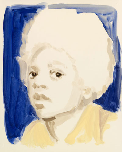 Annie Kevans, Michael Jackson in Blue, 2009, oil on paper, 50 x 40cm